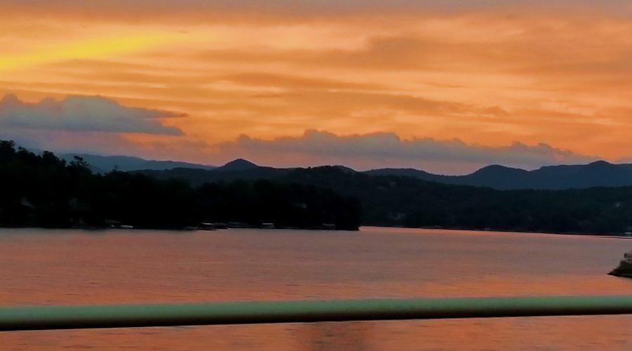 Hint of Fall? Beautiful Lake Keowee Crystal Clear Blue Skies